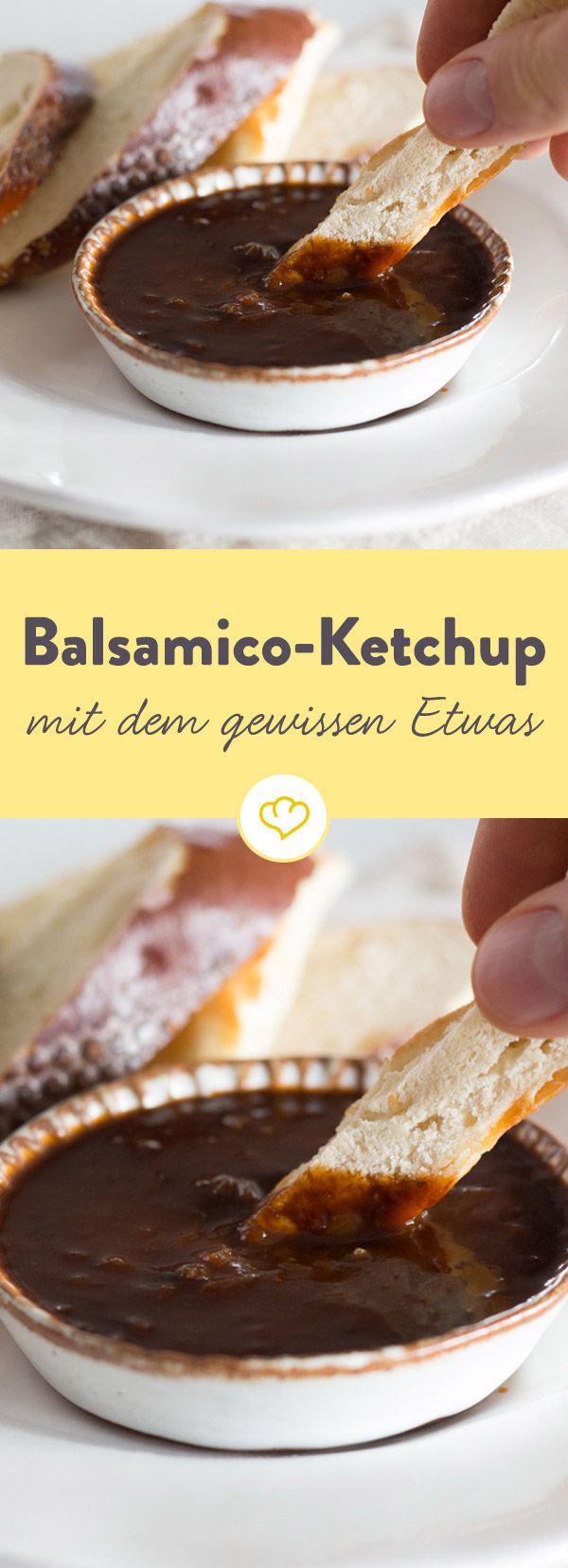 Balsamico macht sich nicht nur prima im Salatdressing, sondern gibt auch selbstgemachtem Tomatenketchup den letzten Schliff. Gleich ausprobieren.