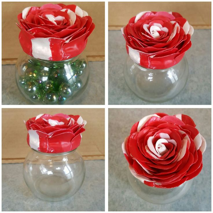 Rose Polymer clay lid