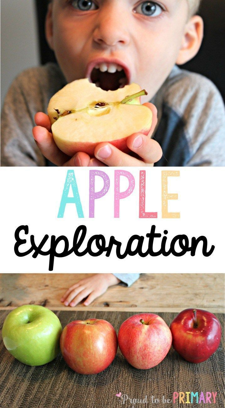 Fun apple activities for preschool and Kindergarten kids using our 5 senses, simple science, books, and more. The taste test activities is a MUST TRY! Read now to grab your FREE apple exploration printable kit!