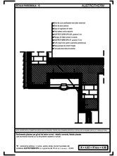 Pardoseala planseu pe grinzi de beton armat - detaliu consola, fatada placata AUSTROTHERM