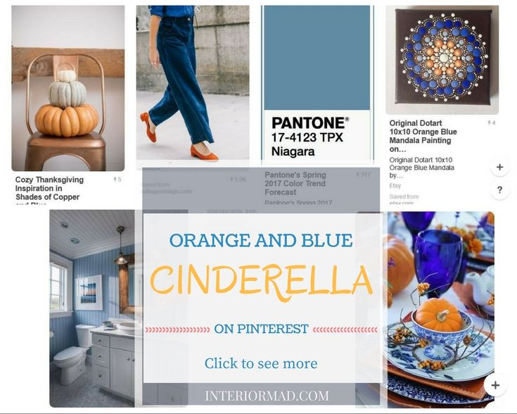 Interiormad's Cinderella board on Pinterest,orange and blue inspiration for your home