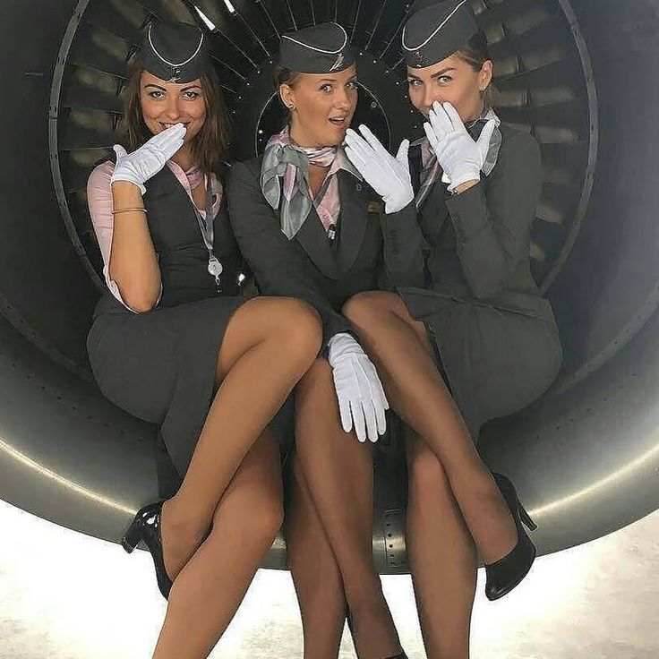 Sexy Airline Stewardess Stock Photo