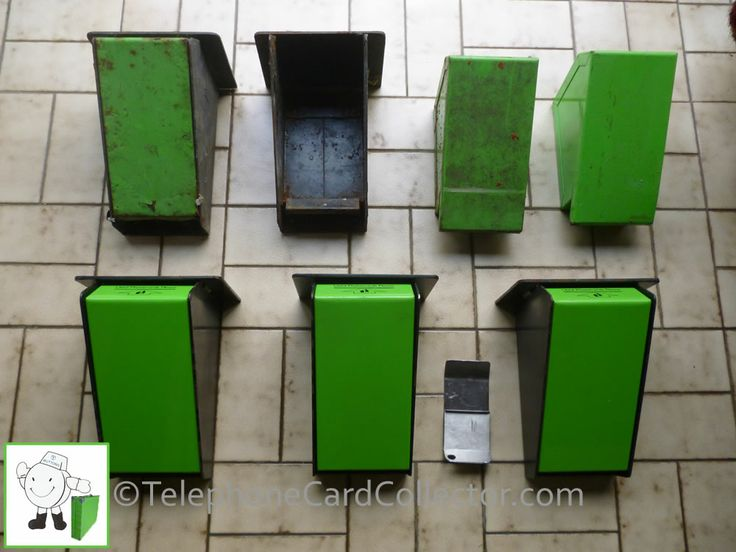 Used Phonecard bins - I wonder which cards were found in these over the years? Some have seen better days.