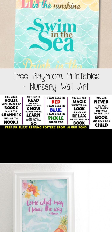 Free Playroom Printables Nursery Wall Art Playroom