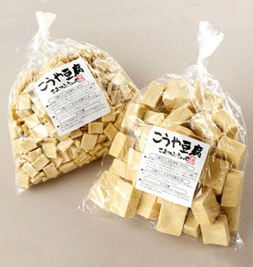 【アミノ酸たっぷり!こうや豆腐2種類 角形・細形 各1袋150g】使い勝手が良く、ご自宅用にも親しい方への贈答にもどうぞ。中形は煮物などに、細形はお味噌汁やお吸い物、煮物にも手軽にお使いになれます。遺伝子組み換えの大豆は使用していません。阿智村産です。商品ページ→ http://sinsyu.shops.net/item?itemid=14547