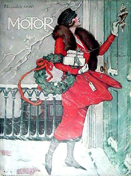 "1920  marinni | Girls and cars. Vintage advertising and ""Motor magazine"" magazine."