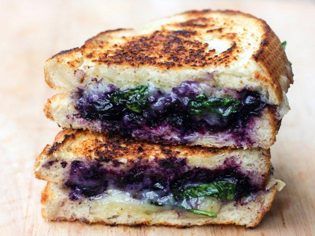 balsamic soaked blueberry grilled cheese
