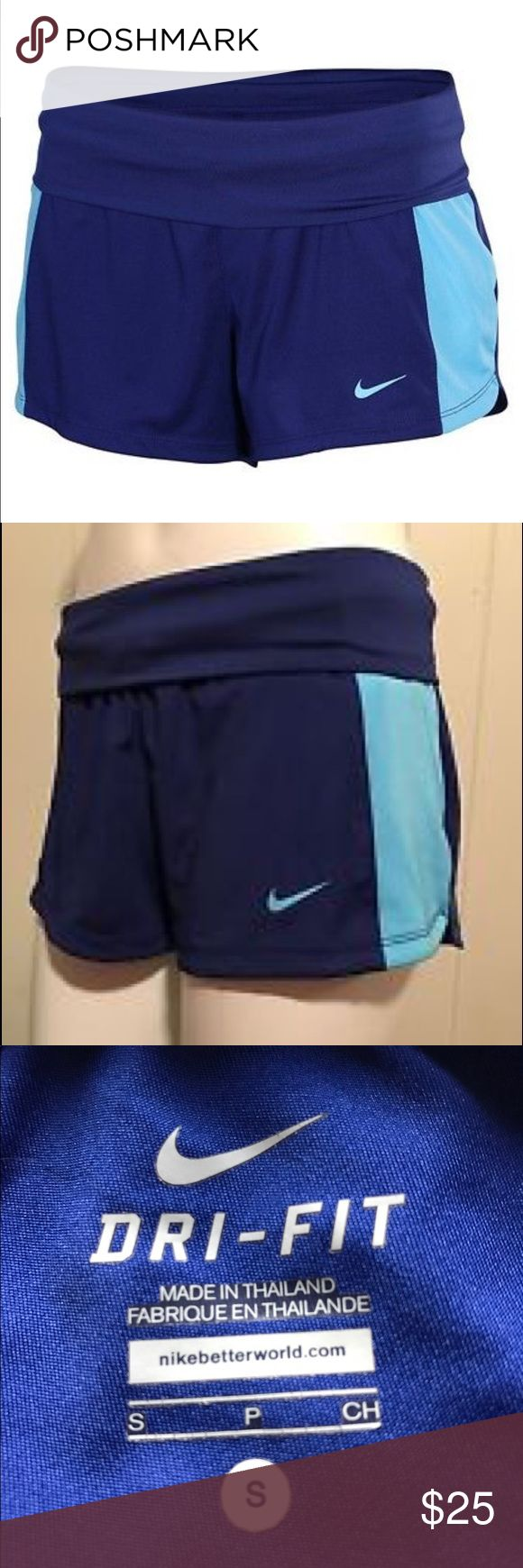 Nike Dri-Fit women's training shorts Blue shorts, brand new conditions, manufactures tags still attached. Nike Shorts