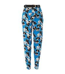 Blue floral print high waisted trousers £32.00