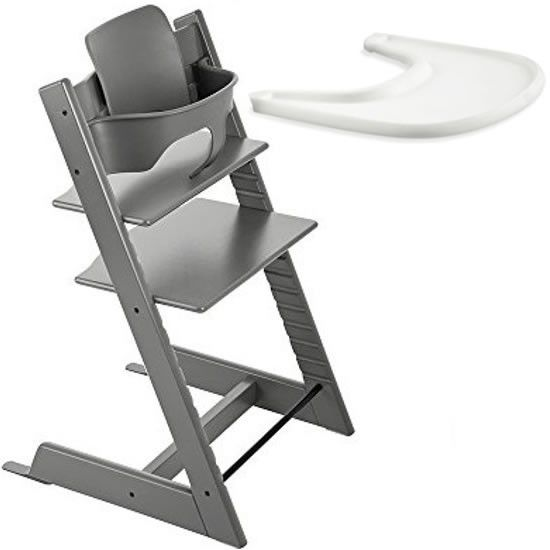 Stokke Tripp Trapp Chair With Baby Set & Tray - Storm Grey