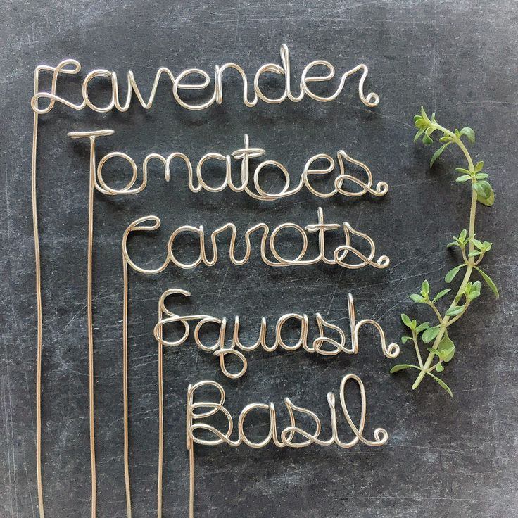 Garden Markers - Garden Stakes - Wedding Center Piece - Plant Markers - Plant…