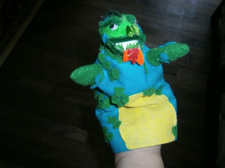 Lia B. Creations: Felt Dragon puppet