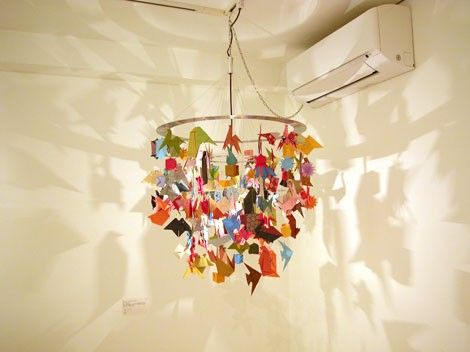 Love the chandelier look and colors - wonder if I could do it with plastic animals