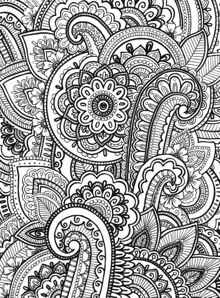 Paisley Zentangle by Emma Lin