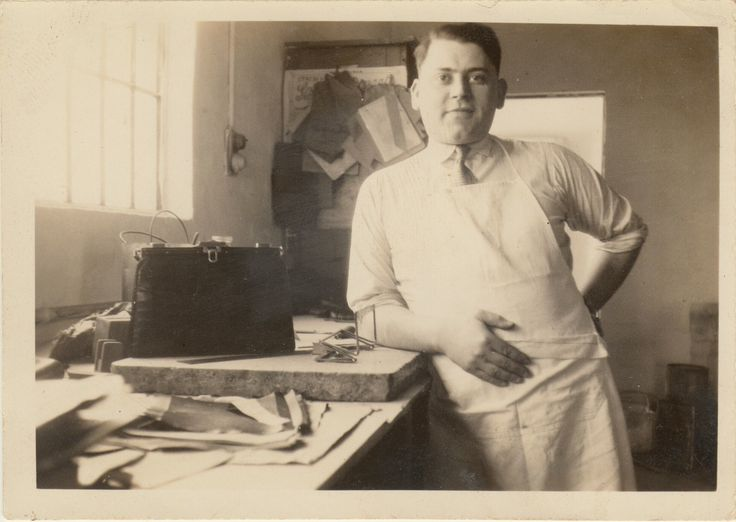 Jacques Hopenstand in his workshops in Paris.