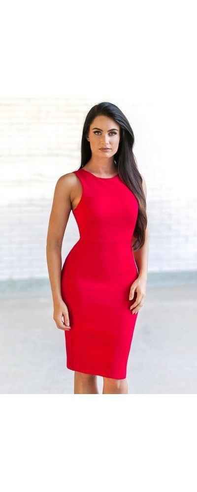 Lily Boutique In The Back Red Cocktail Dress, $36 Red Cocktail Dress | Cute Red Party Dress for Juniors | www.lilyboutique.com