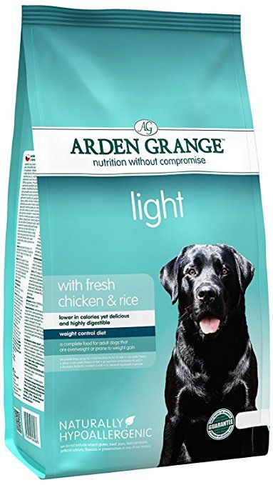 Arden Grange Light Chicken and Rice Adult Dog Food - 12 kg. Dog food. Dog training. Dog guide. Pet guide. Pet food. It's an Amazon affiliate link.