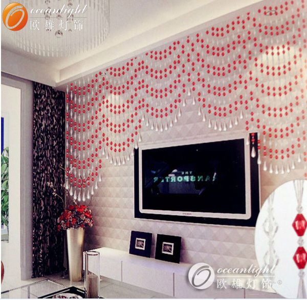 crystal curtain finial pink,crystal bead string curtain OCX021
