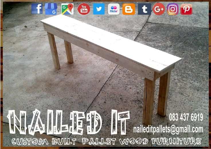 Custom Build Pallet Wood Kitchen Bench. Raw Wood Finish. Perfect for the kitchen counter. Built to the Client's specific needs & requirements. Suitable for indoor & outdoor use. Contact 0834376919 or naileditpallets@gmail.com for all your inquiries or quotes #palletchairs #kitchenfurniture #naileditpalletfurniture #palletfurnituredurban #custompalletfurniture #palletbench #palletwoodbench #palletwoodfurnituredurban #palletkitchenfurniture #custompalletfurniture #custombuiltpalletfurniture