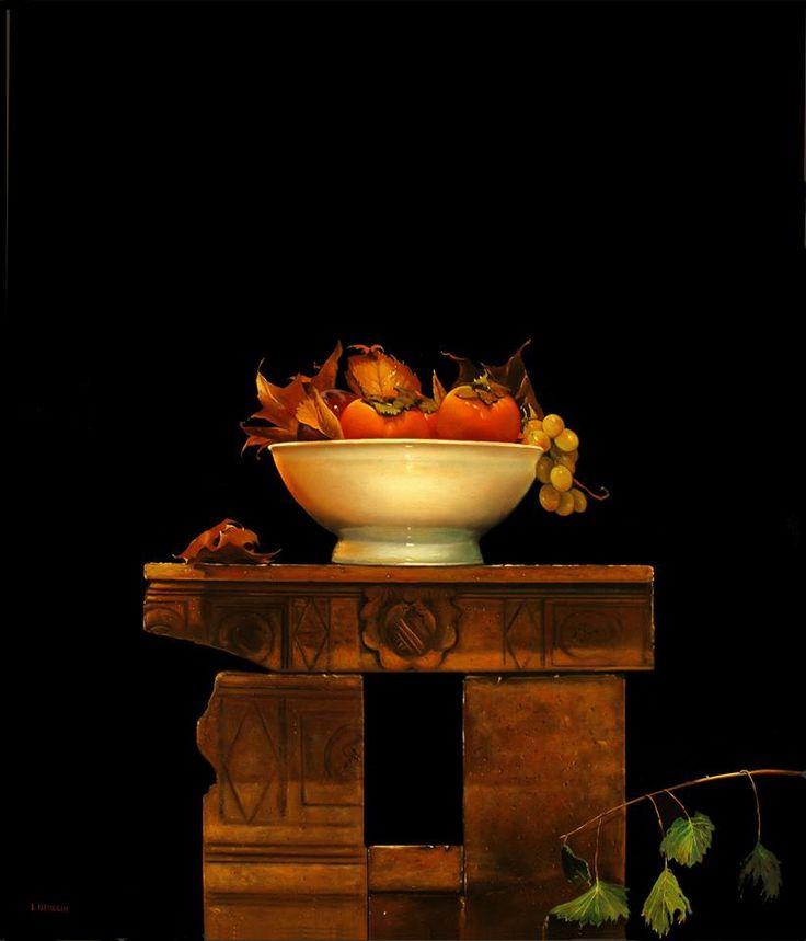 Autore : Luigi Beolchi  Titolo : Cachi Tecnica : Olio su tela Misure : 70x60 cm