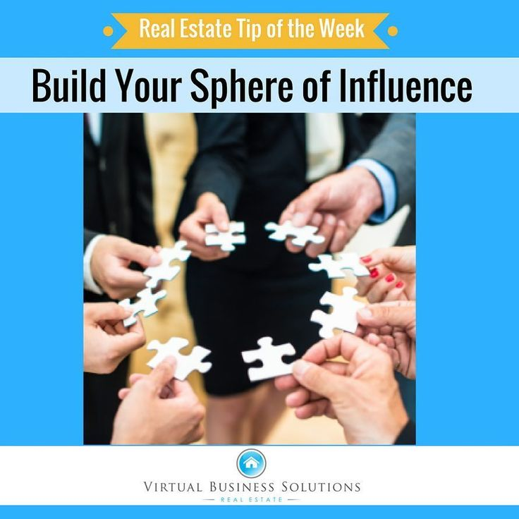 "Tip of the Week: Build Your Sphere of Influence  START BUILDING YOUR ""BOOK OF BUSINESS""  Some call it working your ""sphere of influence."" Becoming a real estate agent is just the very first step in a long (you hope) career of working with buyers sellers investors appraisers loan officers mortgage brokers inspectors title companies and others.  Follow these tips from James Kimmons for thebalance.com:  GET YOUR CURRENT LIST ALL IN ONE PLACE  What is important is to hopefully start with…"