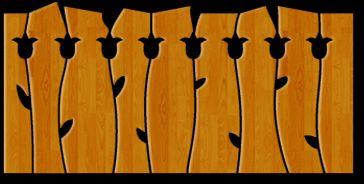 Fa-kerítés - egyedi fa kerítéselemek