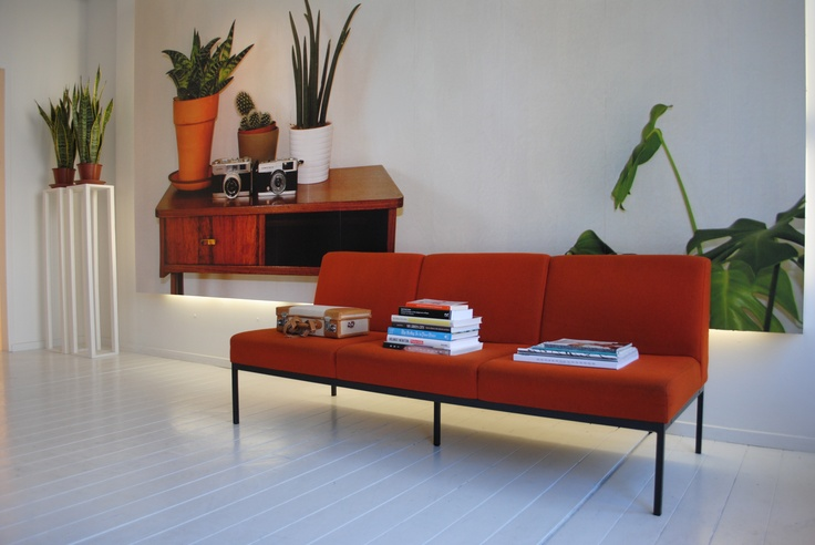 Orange sofa @ By AMFI