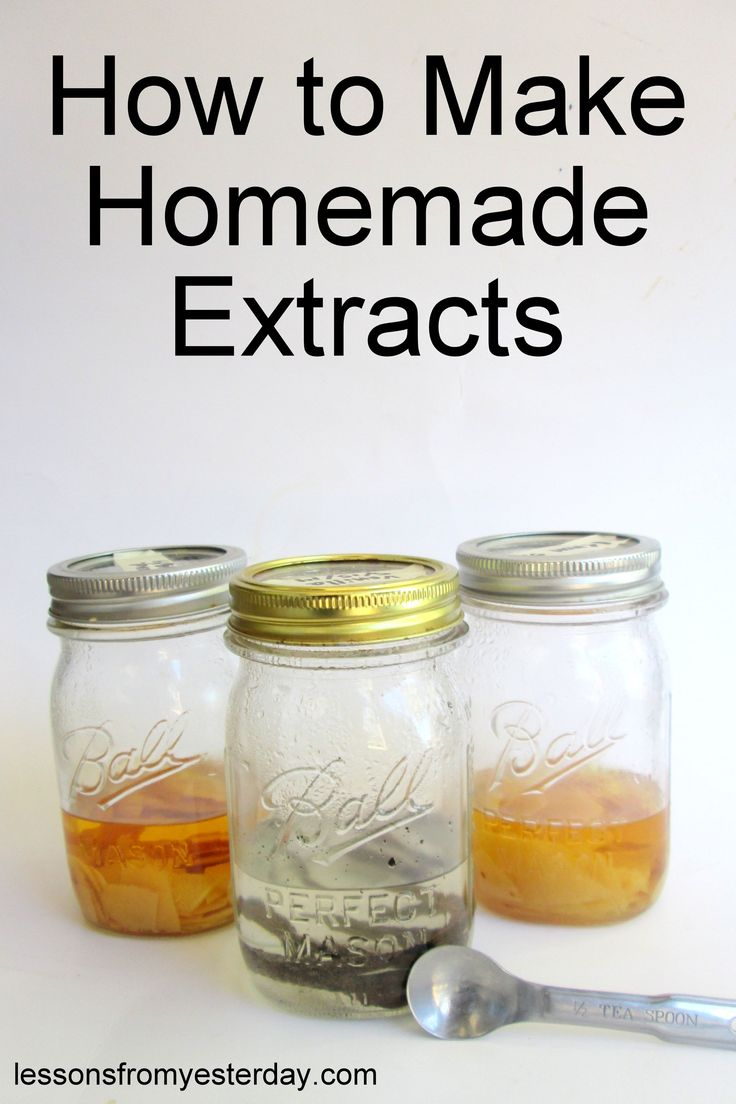 Homemade extracts are much cheaper to DIY than buy in the store, and they're incredibly simple to make.  This detailed tutorial shows you how to make vanilla, lemon and orange extracts--you'll want to make some for your own kitchen, and some to give as gifts!