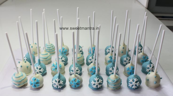 Homemade Eggless Frozen theme birthday Cake Pops - perfect mini dessert for a kids birthday party