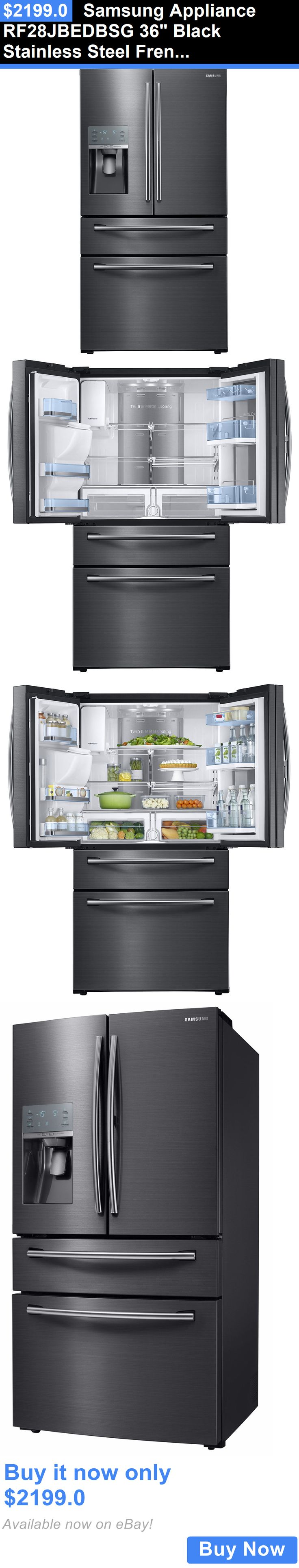 Kitchen small appliances edmonton - Major Appliances Samsung Appliance Rf28jbedbsg 36 Black Stainless Steel French Door Refrigerator Buy It Now