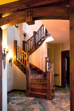 Craftsman Staircase - such beautiful woodwork