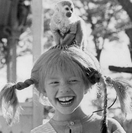 Pippi Longstocking-I LOVED these movies as a kid. It made me want to live on my own (as a child) and clean the floors by strapping scrub brushes to my feet and skating around the house on them! lol
