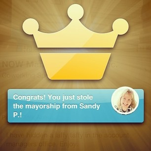 Yes, I do get excited about the little things like this (: #mayor #4square #marketing #competition #team