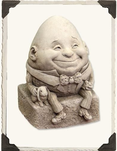 Humpty Dumpty Wee Statue For The Shelf Or Alice Garden In Wonderland Pinterest And Statues