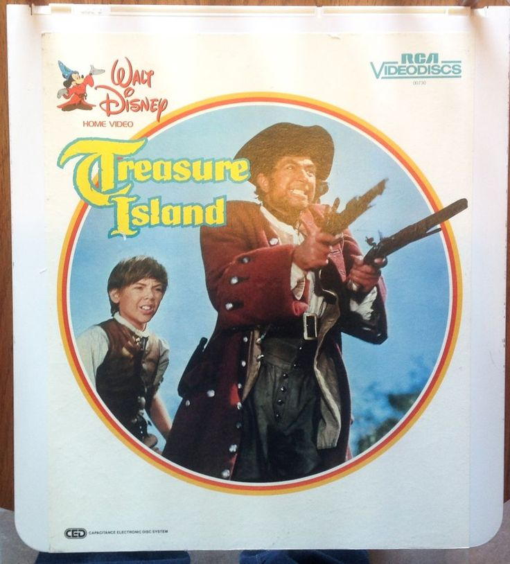 """""""Treasure Island"""" Vintage Video Disc CED Disc Rated PG Bobby Driscoll EUC"""