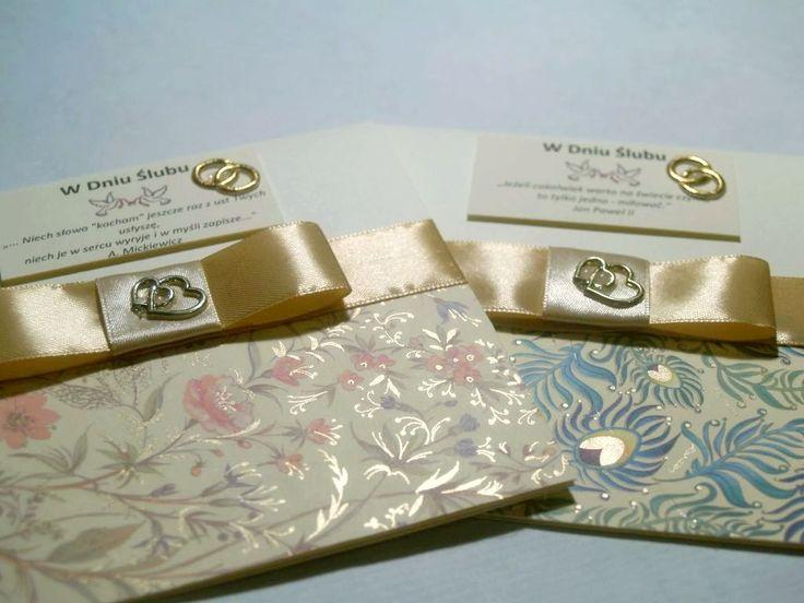 Handmade weeding card made of italian paper with powdered gold. DiY card. Ręcznie robiona kartka na wesele zrobiona z m.in. włoskiego papieru ozdobnego ze sproszkowanym złotem.