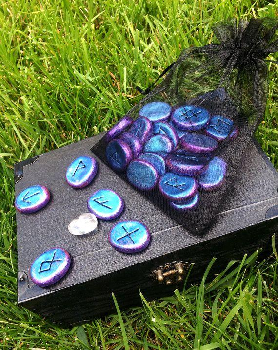 Luna Blue's HandCrafted Runes Set Freya's door LunaBlueBoutique, $40.00