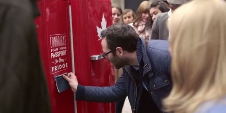 WATCH: This Beer Fridge Only Opens If You're Canadian