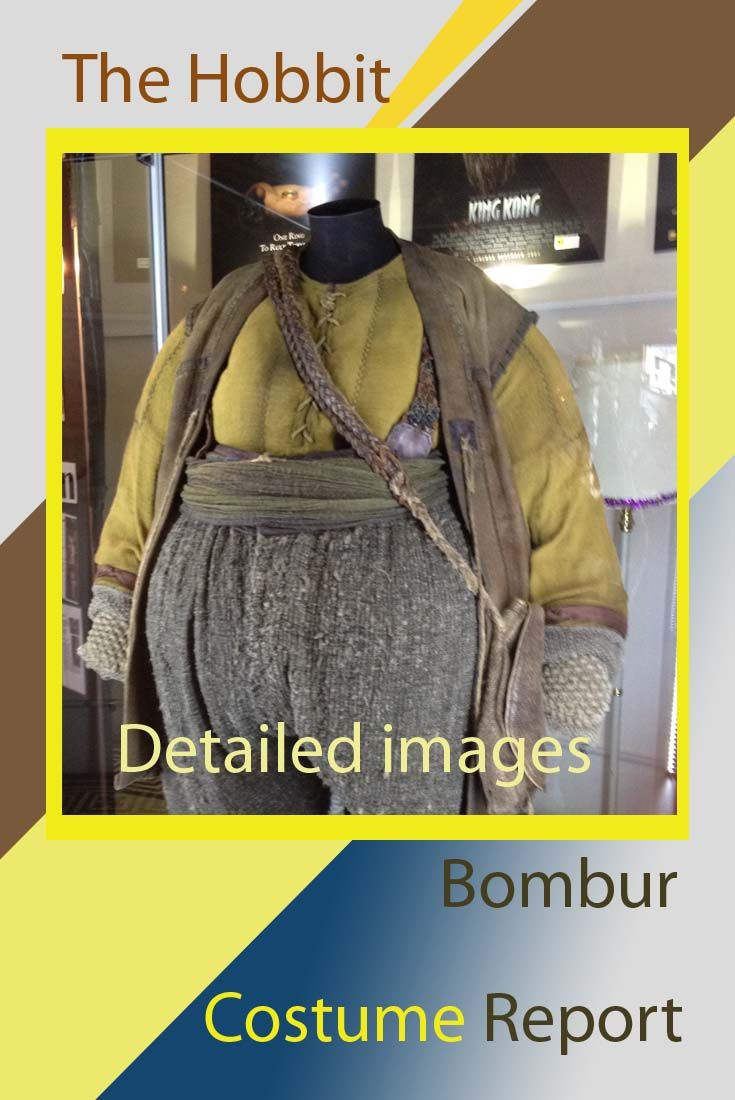 Bombur the Dwarf has the most fabulous costume. We report on it in great detail with a mni movie and some close up images that will make costume recreation a breeze for cosplay fans. This is the genuine costume used in the Hobbit movie.