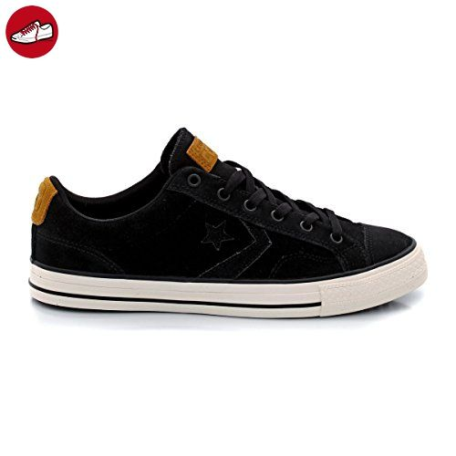 Converse All Stars Player Ox Leather Shoes (Black Egret) - Converse schuhe (*Partner-Link)
