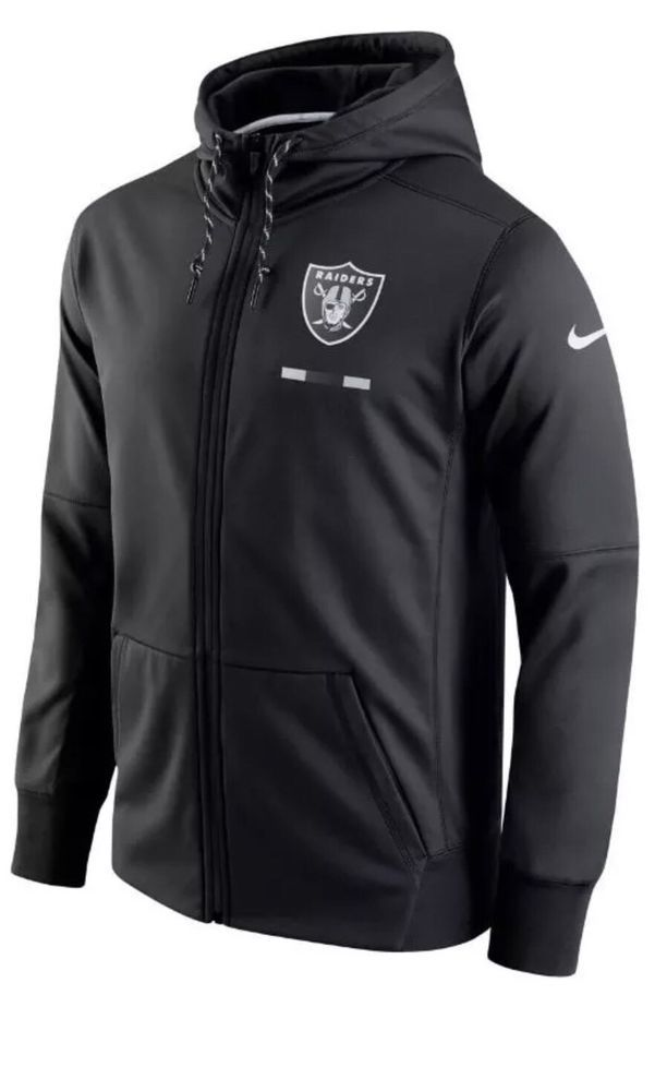 cfec52680ae2 Nike Oakland Raiders Nike Dri-Fit Black Full Zip Hoodie 837355 010 Sz XL  Therma  Nike  OaklandRaiders