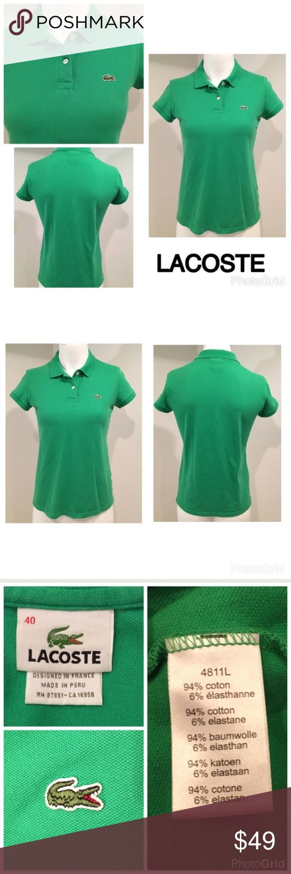 "🌸 Lacoste Women's 40 Polo SS Green Golf Shirt Lacoste Women's 40 Polo Short Sleeve Green Basic Collared Golf   ▫️Bust 18"" (armpit to armpit)   ▫️No stains  ▫️No holes  ▫️Light wear  🛍For the best deal, I offer a bundle discount! Please check out my closet for other fabulous items!🛍 Lacoste Tops"