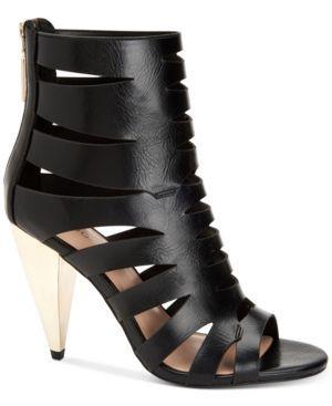 f46a3cf0d8 BCBGeneration Nadeline Cone-Heel Dress Sandals - Black 5.5M