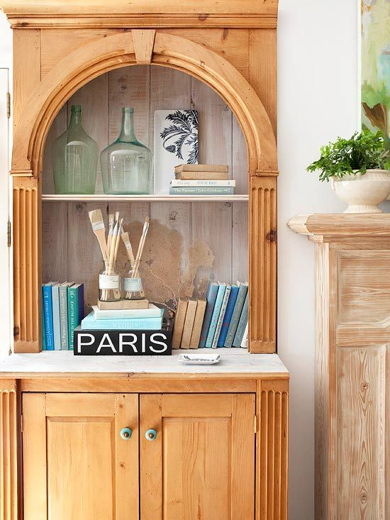 Show off your storage style with these creative displays that are both eye-catching and functional.Furniture Restoration, Restoration Furniture, Smart Storage, Living Room Design, Bookcas, Home Decor, Colors Schemes, Decor Painting, Storage Ideas