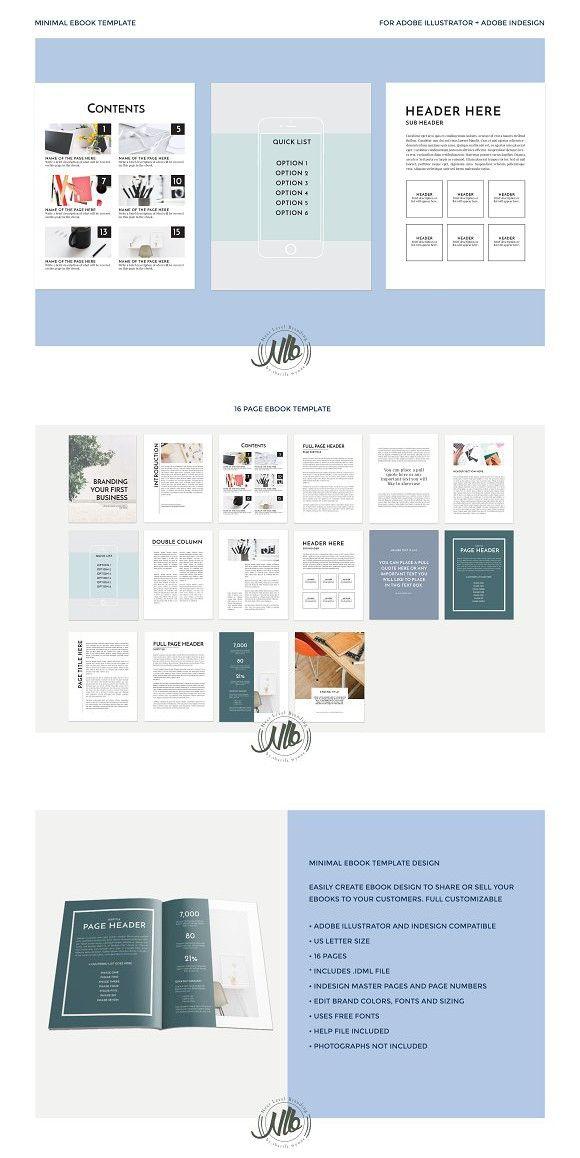 Minimal Ebook Template Templates Brochure Template
