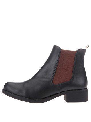 OJJU - Hnědo-černé kotníkové boty - 1