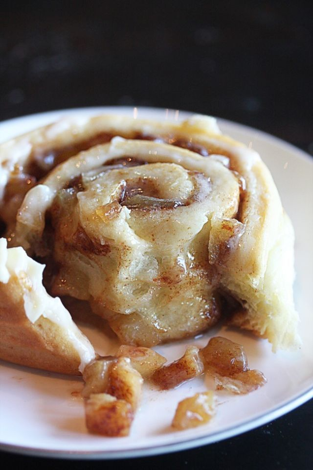 These cinnamon rolls have an apple pie filling and sticky cream cheese frosting. Once you get these bad boys out of the oven, it's likely they'll be gone before even making it to the table.  Get the recipe at The Hopeless Housewife.   - CountryLiving.com