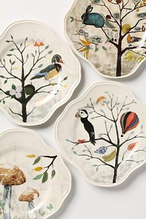 platesCeramics Design, Ceramics Art, Anthropology, Deciduous Salad, Kitchens Wall, Curious Deciduous, Plates Wall, Salad Plates, Rebecca Rebouche