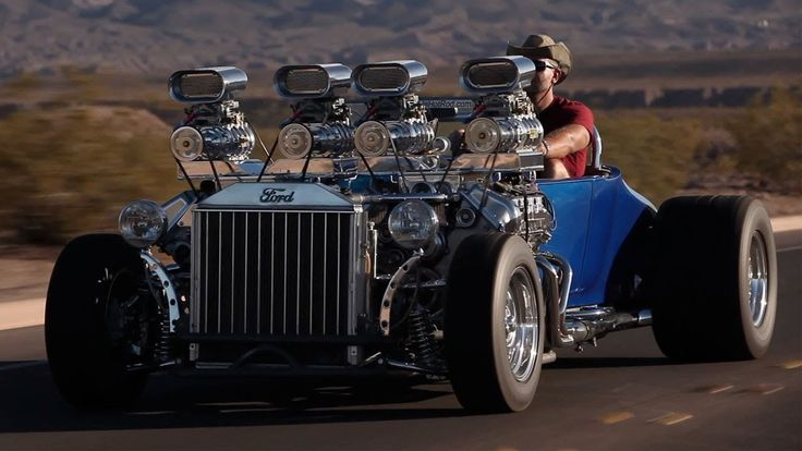 "New Zealand-born, US car customiser Gordon Tronson's 1927 Ford Model T custom simply known as ""Double-Trouble""."