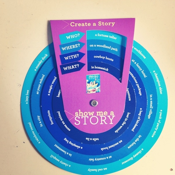 Loving.. a story wheel.. what a great idea for children struggling with story writing!